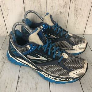 Brooks Glycerin 10 Silver Blue Running Shoes